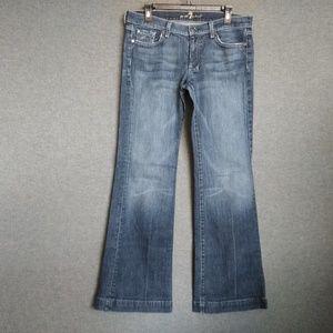 7 For All Mankind Dojo Wide Leg Jeans Size 31 L33